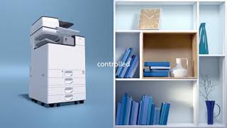 Video tile image of an MFP in an office.