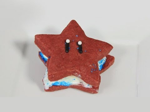 icecreamsandwich - On this weeks episode of Quake and Bake, I make Super Mario Star Ice Cream Sandwiches just in time for 4th of July!! More 4th of July Star inspiration - http...