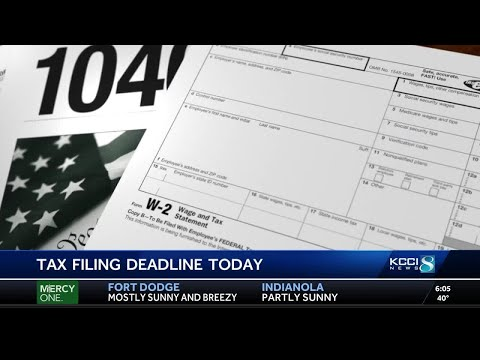 Tax filing deadline today