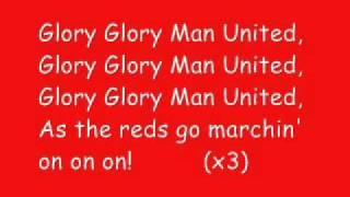 Glory Glory Man United karaoke