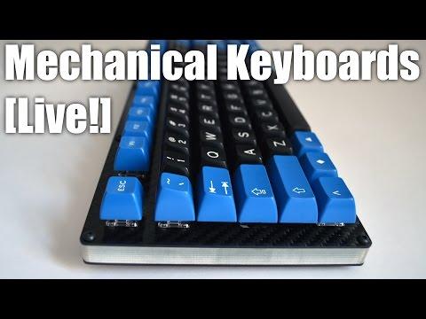Mechanical Keyboards LIVE! - Custom Build of 1upkeyboards TKL Carbon Fiber kit