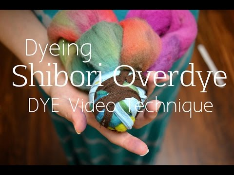 How to Shibori Dye Roving