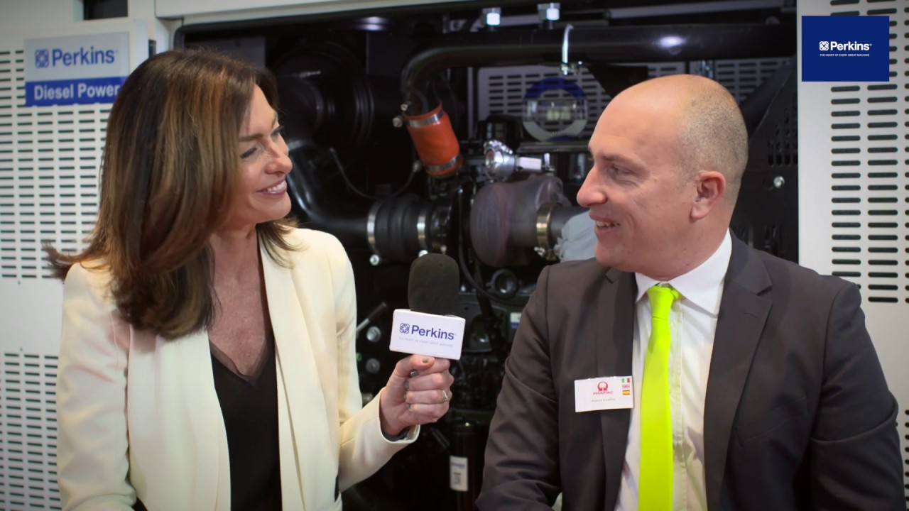 Pramac's head of marketing, Andrea Ercolino at bauma Munich 2019