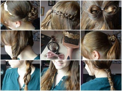 Schöne, einfache und schnelle Frisuren für den Alltag