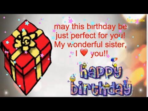 Happy birthday messages - # happy birthday sister whatsapp status video