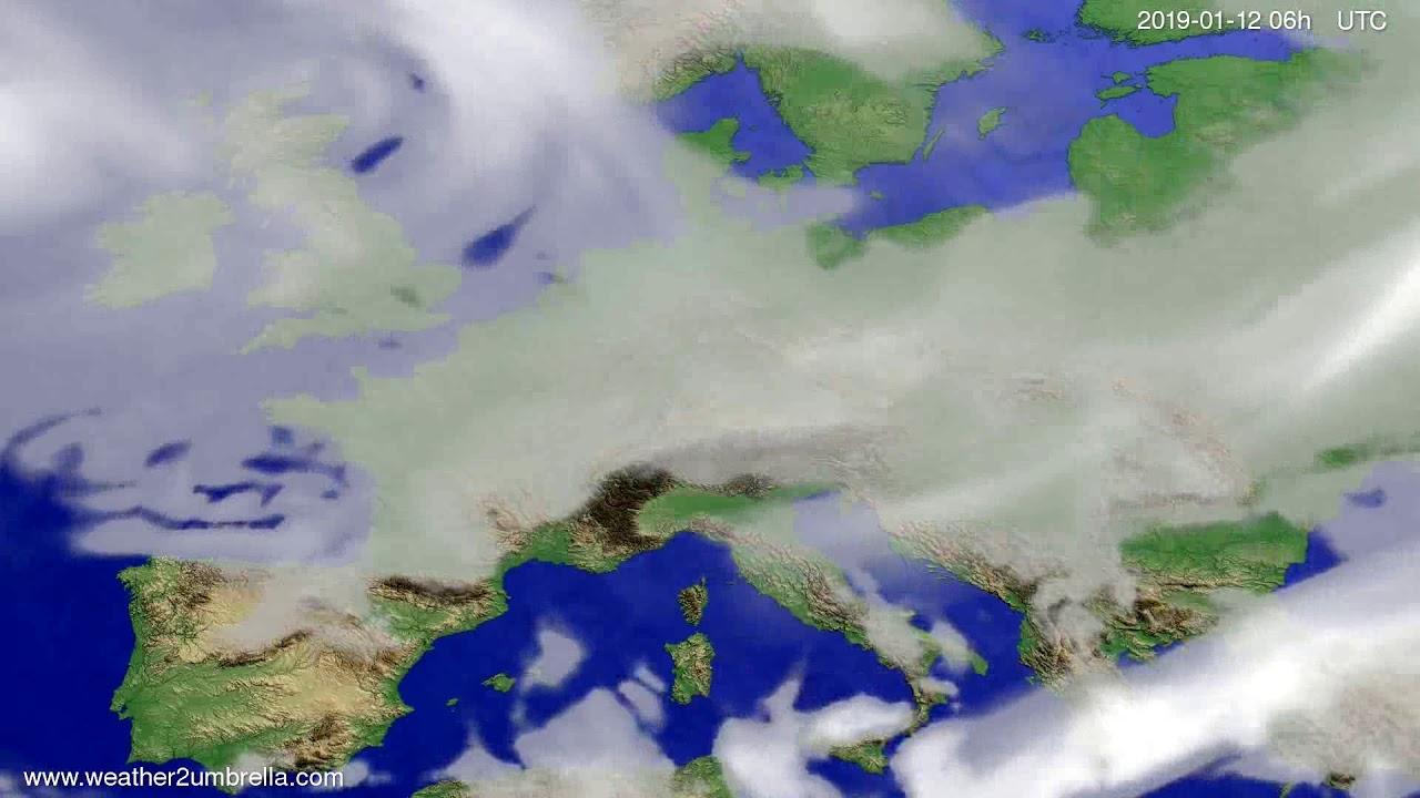 Cloud forecast Europe 2019-01-09