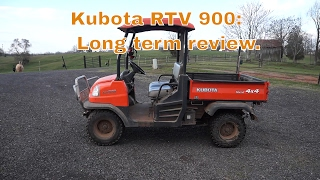 7. Kubota RTV 900 long term review.