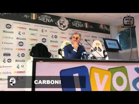 Robur Siena-Savona - Intervista a Carboni - 2016