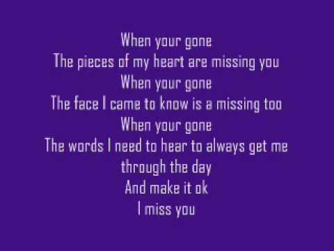 Avril Lavigne - When you're gone Lyrics