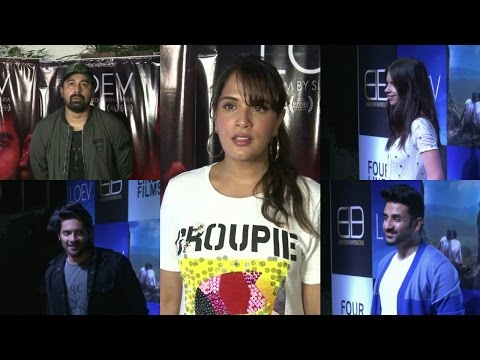 Richa Chadda | Ali Fazal | Vir Das | At Red Carpet Of LOEV Feather Film