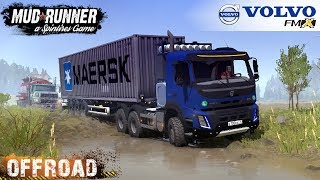 Video Spintires: MudRunner - VOLVO FMX 6X6 Pulls Out of The Ditch Stuck Gasoline Tank Truck MP3, 3GP, MP4, WEBM, AVI, FLV Maret 2019