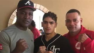DBG graduate Janelson Figueroa Bocachica signed by Evander Holyfield