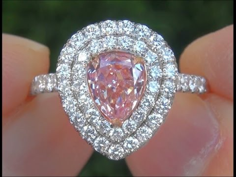 GIA Certified UNTREATED Natural Fancy Pink Diamond Engagement Wedding 18k Gold Ring - A133167