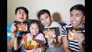 KOREAN SPICY NOODLE CHALLENGE! W/ KAYCEE
