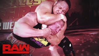 Nonton Relive the brutal history between Brock Lesnar and Samoa Joe: Raw, July 3, 2017 Film Subtitle Indonesia Streaming Movie Download