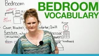 English Vocabulary - In the bedroom...