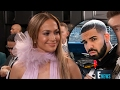 Jennifer Lopez Gets AWKWARD When Ryan Seacrest GRILLS Her About Drake On 2017 Grammys Carpet