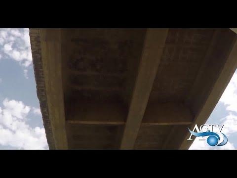 Crollo calcinacci dal ponte S. Bendetto a Favara NewsAgtv