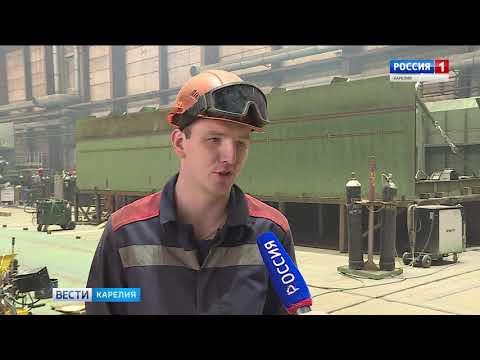 НаОССЗ ведется строительство понтонного моста