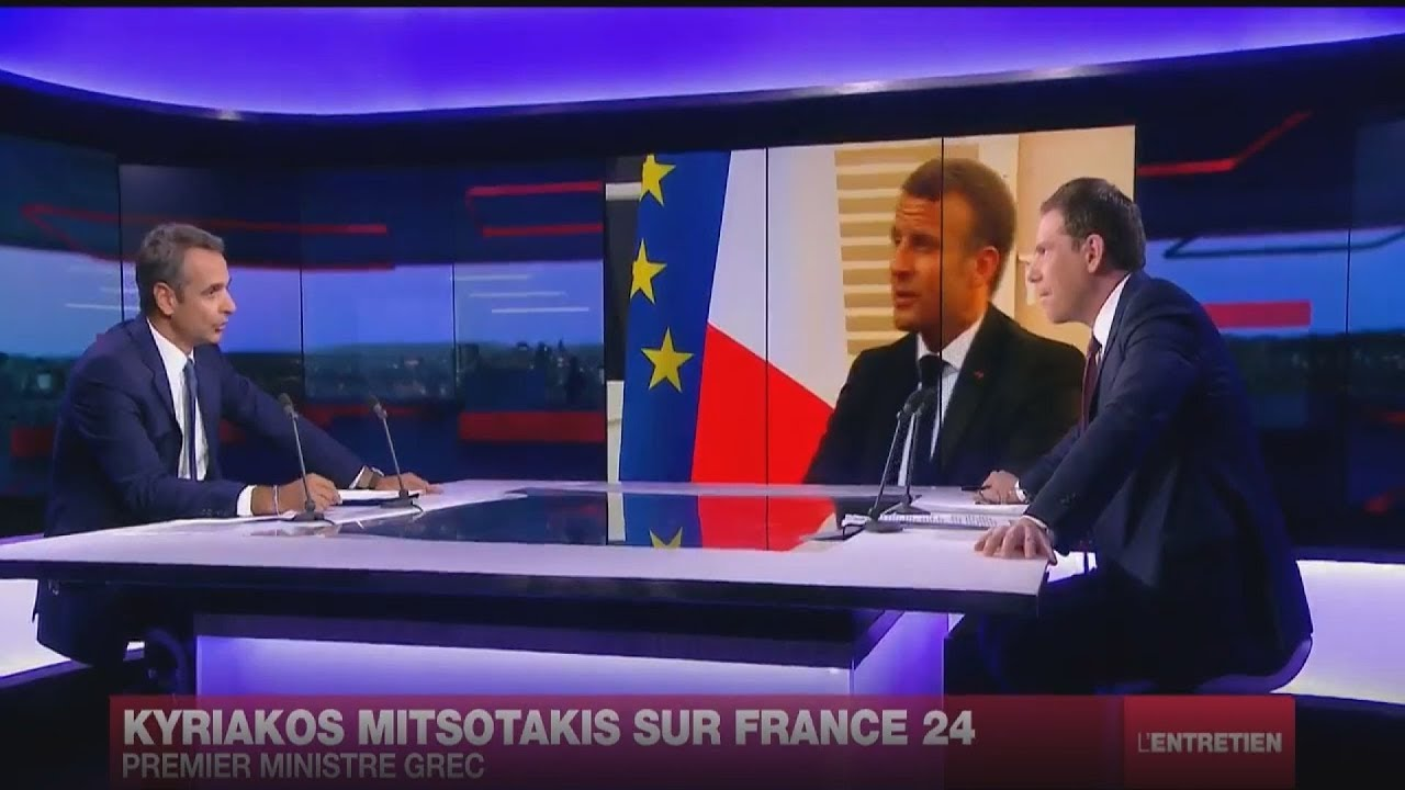Συνέντευξη του Πρωθυπουργού Κυριάκου Μητσοτάκη στο τηλεοπτικό δίκτυο France 24
