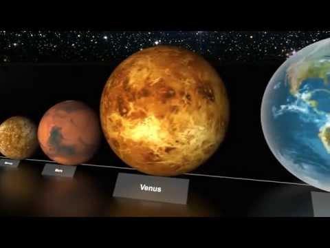 Video of the scale of the Universe