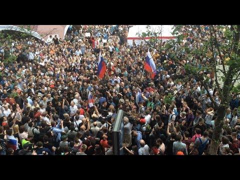 Избиение ОМОНом на акции 12 июня в Москве на Тверской - DomaVideo.Ru