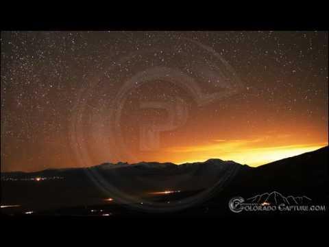 Stars over Sangre De Cristos Mountans Colorado 4K Time Lapse (видео)