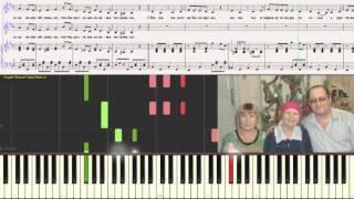 Мамонька - Заволокины (Ноты для фортепиано) (piano cover)