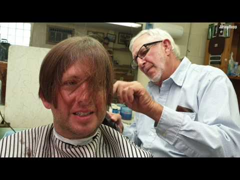 So Classic! $10 Small Town Kansas Barber Haircut By Old Man Morris