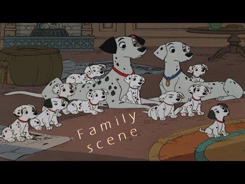 101 Dalmatians - Family scene (HD)