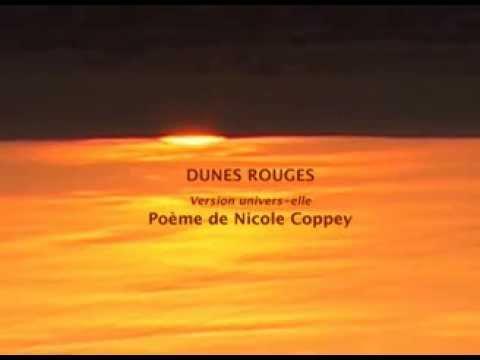 'Dunes rouges' : Poème de Nicole Coppey