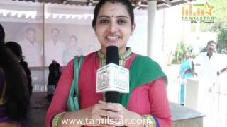 Sujitha at Kottampatti Thodakka Palli Movie Launch