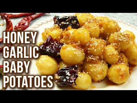 Honey Garlic Baby Potatoes – Quick & Easy Veg Starter Recipe – Stop Motion Cooking – Sonali