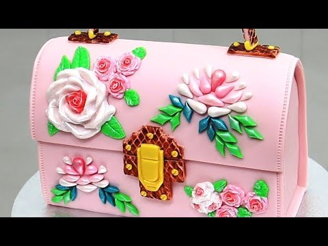 How to make a FLORAL PURSE CAKE by Cakes StepbyStep   Pastel Bolso (видео)