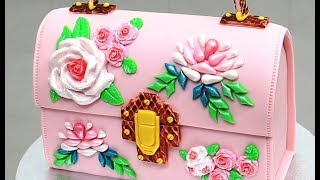 How to make a FLORAL PURSE CAKE by Cakes StepbyStep | Pastel Bolso