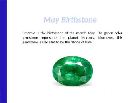 Birthstone Chart-List of Birthstone for each Month