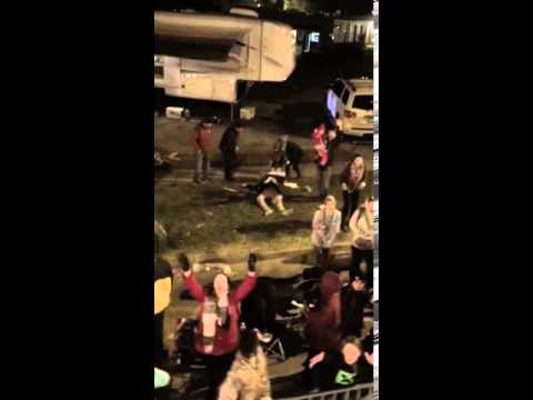 Guy Knocked Out Cold By Mardi Gras Beads