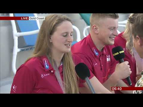 BBC Breakfast - Mike Bushell falls into pool while interviewing divers