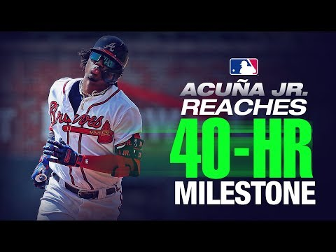 Video: Braves' Ronald Acuña Jr. reaches 40 Home Runs!