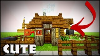 Minecraft: How to build a small survival house | Tutorial | Easy, Efficent & Compact House!