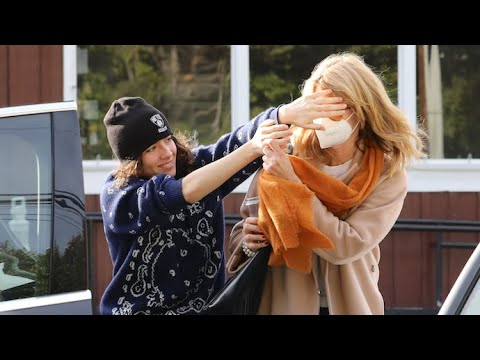 Laura Dern's Daughter Jaya Helps Shield Camera Shy Mom From The Paps