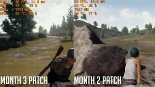 In the latest patch for PlayerUnknown's Battlegrounds, it states it fixes and optimizes various performance issues for both server and client. Also, movement and looting is generally more smooth. This is a comparison benchmark between the last update and the current update. I also show off the new destructible fuccboi shack.Full patch notes:http://steamcommunity.com/games/578080/announcements/detail/2533687504393796928PC Specs:i7 6700 @ 3.4GhzGIGABYTE GA-H110M-AGIGABYTE GeForce GTX 1070 8GB OCFractal Design Core 1000 CaseEVGA 600W 80PLUSBG.SKILL NT Series 16GB 288-Pin DDR4 SDRAM DDR4Kingston 120GB V300 SSDWD Blue 1 TB HDWindows 10 64bitRecorded using Shadowplay @ 1080p 60FPS settings.Used MSI Afterburner + RivaTuner statistics server for FPS info.