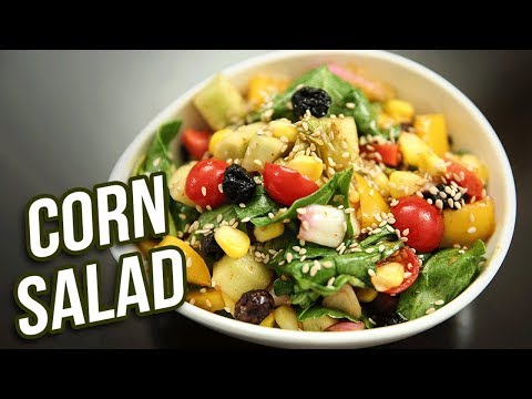 Corn Salad Recipe – How To Make Easy Salad With Dressing At Home – Vegetable Salad – Ruchi Bharani