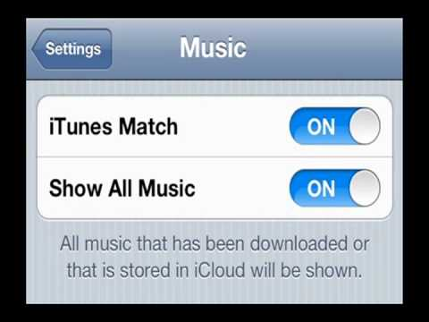 enable itunes match - How to Enable iTunes Match on your iOS 5 device! (Steps in the Description) ---------------------------------------------------------------------------------...