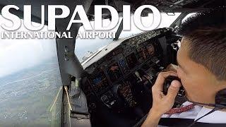 Video Cockpit View - Landing @ Supadio International Airport, Pontianak MP3, 3GP, MP4, WEBM, AVI, FLV Juni 2018