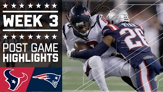 Texans vs. Patriots (Week 3) | Post Game Highlights | NFL by NFL