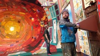 Brazilian street artists Otávio and Gustavo Pandolfo are known for their graffiti and outdoor murals, but their exhibit