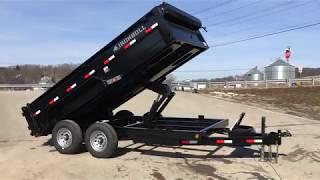 1. Ironbull 7x14' Hydraulic Dump Trailer 7x14' 14000# GVW IB8314DTB14