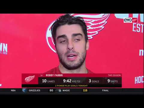 Red Wings LIVE 11.8.19: Robby Fabbri