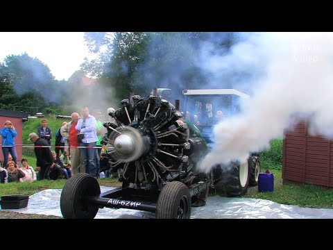 Russischer Sternmotor – Russian Radial Engine Start and Run